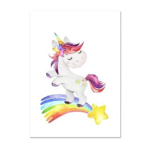 canvas unicorn star shooting 50x70cm at sell