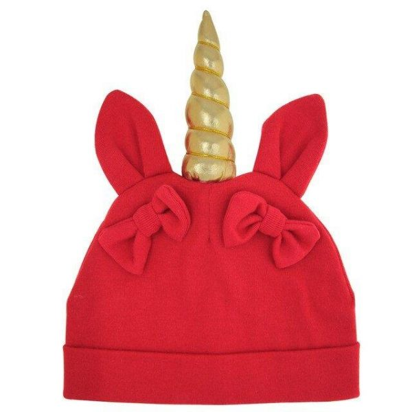 cap unicorn baby red not dear