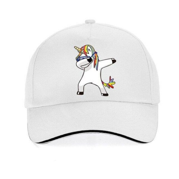 cap unicorn white adjustable