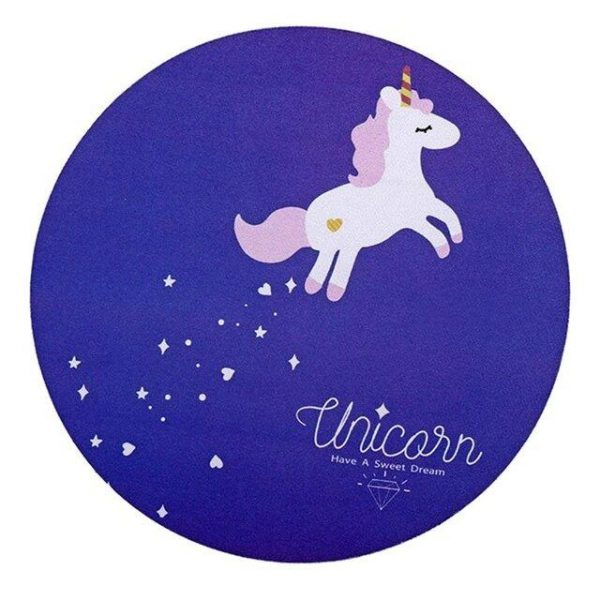 carpet of mouse unicorn round at sell