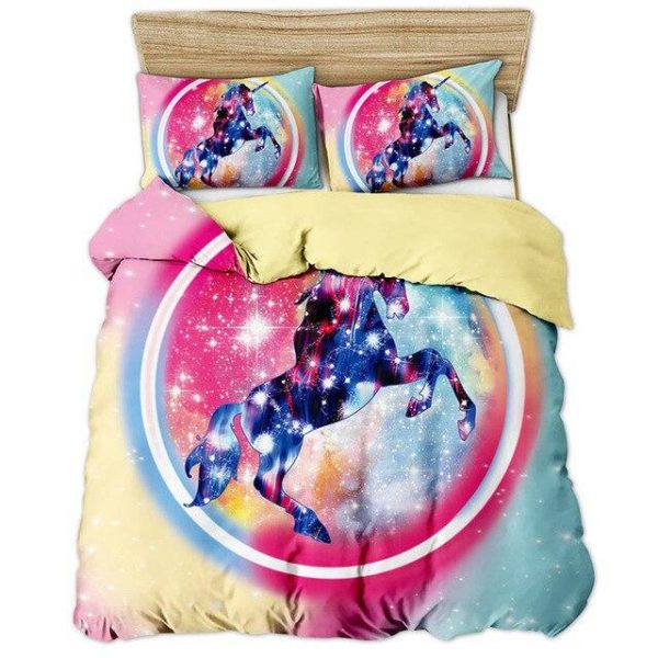 cover of quilt constellation unicorn 180x200 unicorn toys store