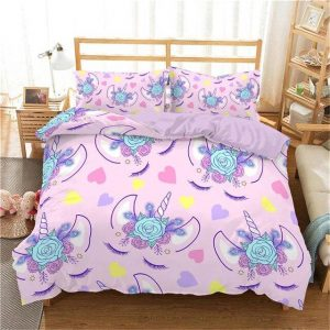 cover of quilt pink unicorn 140x200 cover of quilt unicorn 140x