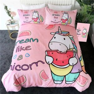 cover of quilt pink unicorn greedy 140x200 not dear