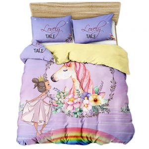 cover of quilt princess and unicorn 180x200 price