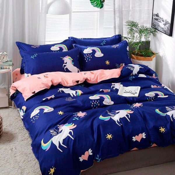 cover of quilt unicorn comfortable 180x200 unicorn toys store