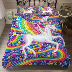 cover of quilt unicorn multicolored 140x200 unicorn toys store