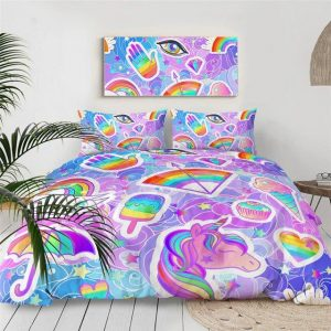 cover of quilt unicorn multicolored 220x240 unicorn toys store