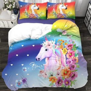 cover of quilt unicorn realistic kawaii 180x200 unicorn kawaii