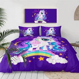 cover of quilt violet unicorn 140x200 at sell