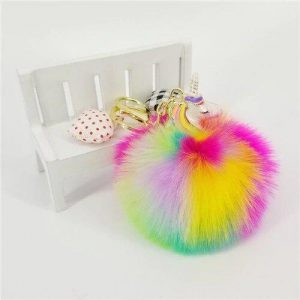 door key pompom unicorn bow in sky unicorn toys store