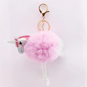 door key pompom unicorn pink not dear