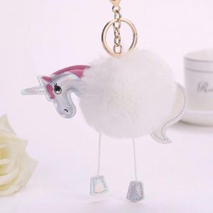 door key pompom unicorn white buy