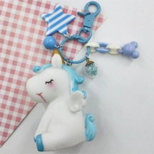door key unicorn blue not dear