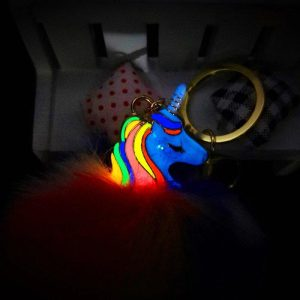 door key unicorn bright