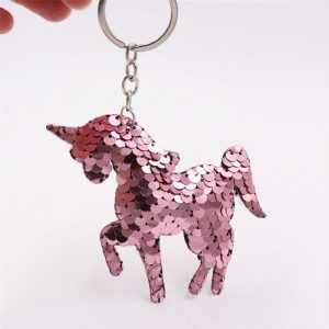 door key unicorn paillette
