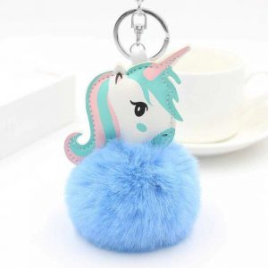door key unicorn pompom blue unicorn toys store