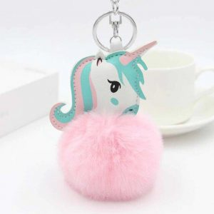 door key unicorn pompom pink price
