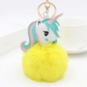 door key unicorn pompom yellow price