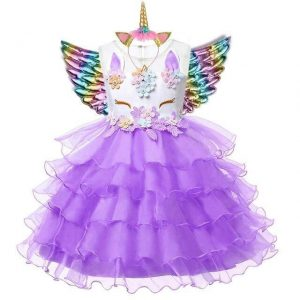 dress unicorn girl 8.years