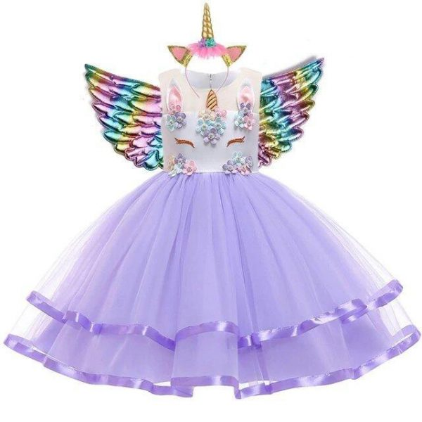 dress unicorn girl purple 10 years price