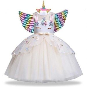 dress unicorn girl white 10 years at sell