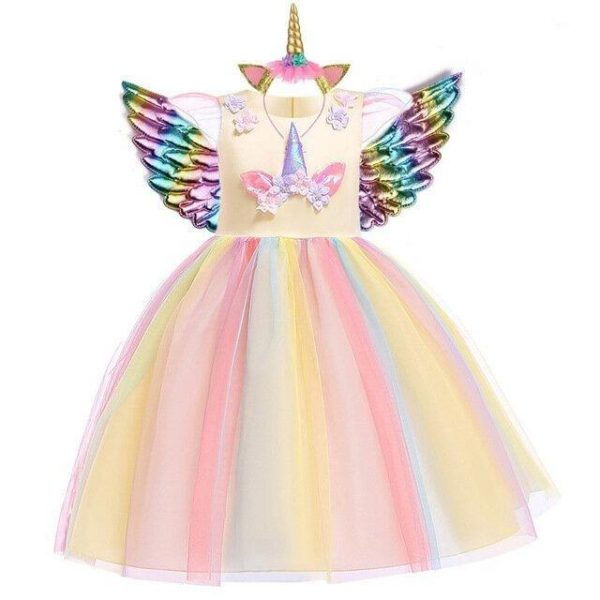 dress unicorn girl yellow 10 years unicorn toys store
