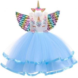 dress unicorn princess blue 10 years price