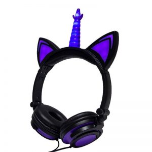 helmet of music unicorn helmet earphone unicorn