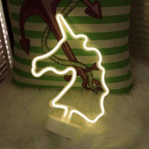 lamp neon unicorn yellow at battery lamp unicorn
