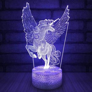 lamp unicorn blue at sell