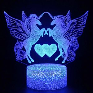 lamp unicorn led 3d heart price