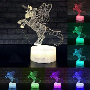 lamp unicorn multicolored not dear