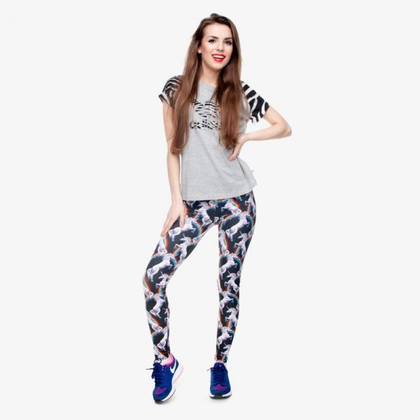 leggings unicorn bow in sky not dear