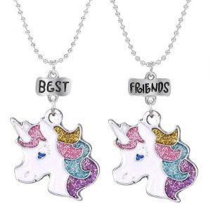 necklace unicorn best friends not dear