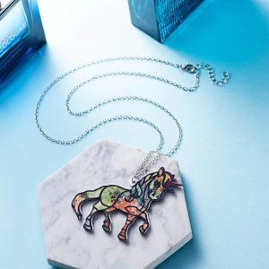 necklace unicorn bow in sky price
