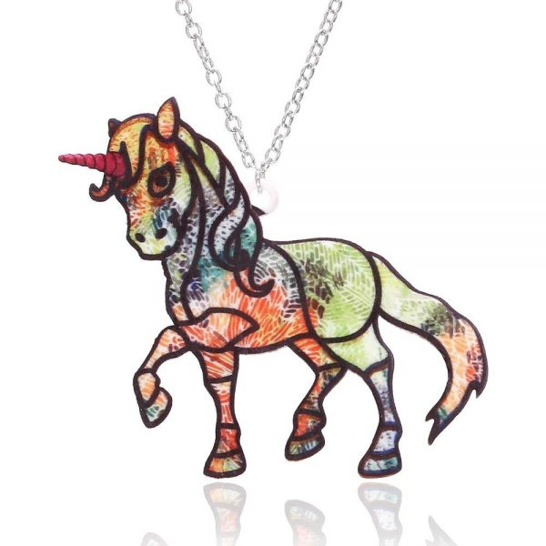 necklace unicorn bow in sky unicorn toys store