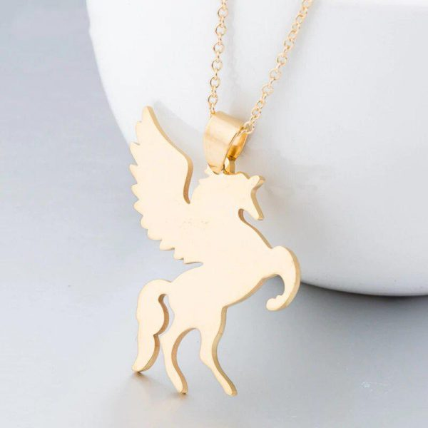 necklace unicorn color gold at sell
