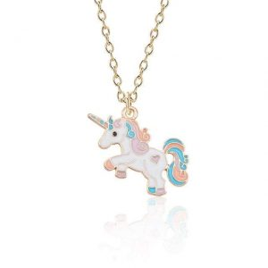 necklace unicorn crazy woman 46 ​​cm adjustable