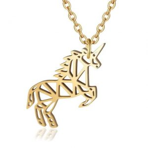 necklace unicorn elegant 40 cm adjustable price