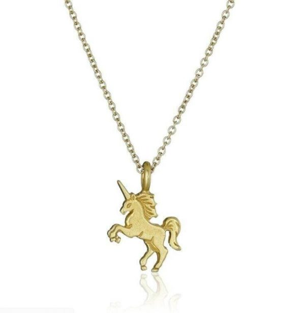 necklace unicorn gold at sell