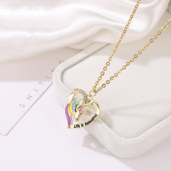 necklace unicorn golden 50 cm at sell