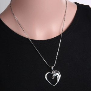necklace unicorn heart price