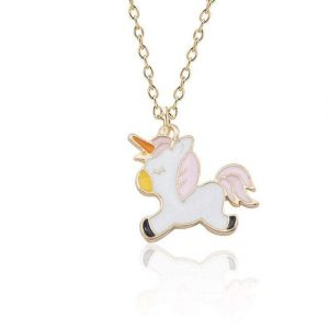 necklace unicorn kawaii 46 ​​cm adjustable unicorn toys store