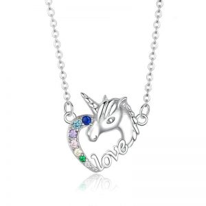 necklace unicorn love money 45 cm