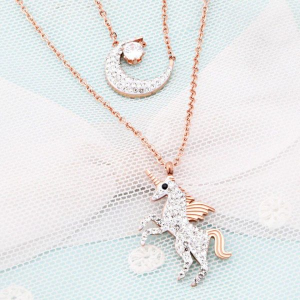 necklace unicorn moon at sell