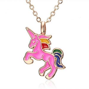 necklace unicorn pink pink jewelry unicorn