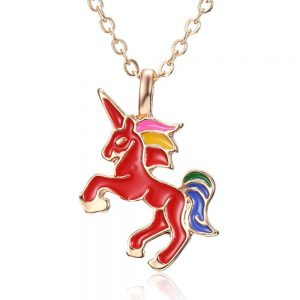 necklace unicorn red red buy