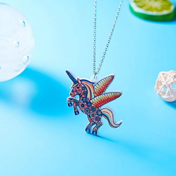 necklace unicorn see not dear