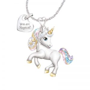 necklace unicorn shiny 50