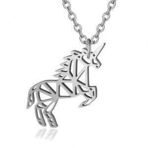 necklace unicorn women 40 cm adjustable necklace unicorn